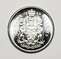 Canada 1964 Silver 50 Cents Half Dollar Coin