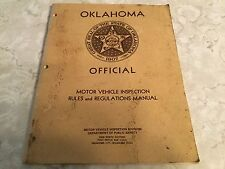Oklahoma Official Motor Vehicle Inspection Rules and Regulations Manual OK