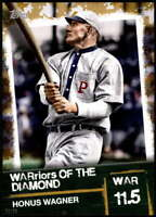 Honus Wagner 2020 Topps WARriors of the Diamond 5x7 Gold #WOD-10 /10 Pirates