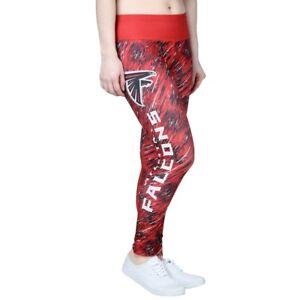 Atlanta Falcons NFL Red Static Rain Leggings Yoga Pants Womens Sz S NEW NWT