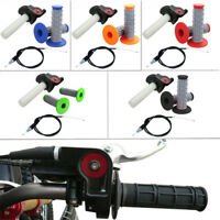 Twist Throttle Cable Hand Grips For 110cc 125 140 cc CRF50 SSR BSE Pit Dirt Bike