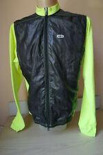 Louis Garneau Hybrid Windbreaker Thermal Jacket Cold Weather Yellow Hi Viz Sz L