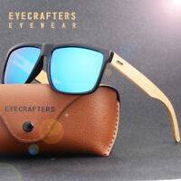 Retro Bamboo Wood Polarized Sunglasses Mirrored Coating Lens Wooden SunGlasses