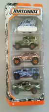 Matchbox 2017 MBX Camouflage 5 Pack Ford F 150 Toyota Cruiser Jeep Hummer