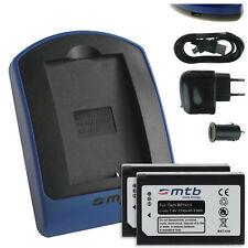 Chargeur (USB) + 2x Batterie BP1410 pour Samsung NX30 / WB2200F