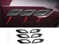 6PCS Carbon Fiber Exterior Leaf Plate Outlet Fit For Maserati Levante 2017-2020