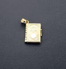 14K Yellow Gold Charm Hebrew Bible Style Pendant
