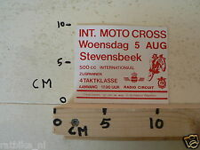 STICKER,DECAL MOTOCROSS STEVENSBEEK 5 AUG 500CC, ZIJSPANNEN, 4-TAKT