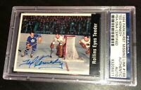 TED TEEDER KENNEDY SIGNED 1994 PARKHURST CARD PSA/DNA Auto MAPLE LEAFS