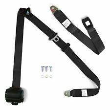3Pt Bench Seat Belt Conversion/Replacement Black Retractable Standard Buckle