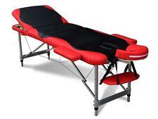 3 Section Léger Pliant Portable Massage Table De luxe beauté canapé Lit BR