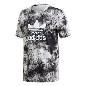 adidas ORIGINALS MEN'S PT3 ALLOVER PRINT T-SHIRT TEE BLACK WHITE TREFOIL BNWT M