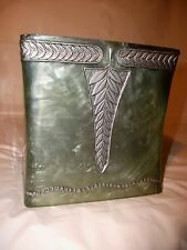 Tissue Box Cover Square Home Decoration Green & Gray pre owned FREE Shipping