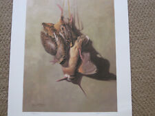 AFTER THE HUNT AMERICAN WOODCOCK BY GARY MOSS WOODCOCK HUNTING PRINT