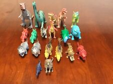 19 Plastic Toy Dinosaurs Play Pretend Assorted Size Children