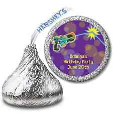 Laser Tag - Personalized Hershey Kiss Birthday Party Sticker Labels - 108 labels