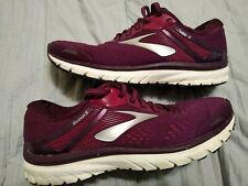 New listing Brooks Adrenaline Gts-18 Womens Sz 9.5 Crazy Red Wine Trail Running Shoes