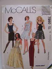 Sewing Pattern McCalls 7990 Corset  Dress Skirt Steampunk Sz 10 12 14 UnCut