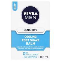 Nivea Men Sensitive Cooling Post shave Balm, 0% Alcohol Skin Care, 100 ml x2