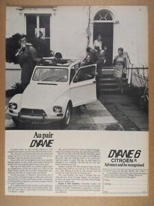 1969 Citroen Dyane 6 Luxe vintage print Ad