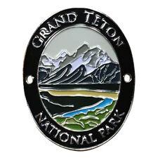 Grand Teton National Park Walking Hiking Stick Medallion - Teton Range, Wyoming