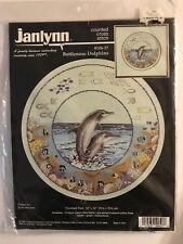 Janlynn BOTTLENOSE DOLPHINS Cross Stitch Kit  Ocean Fish & Sea Life Design