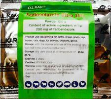 Fenbendazol Ultra 20% Pet Wormer Dewormer Broad Spectrum Professional Pack 100gr