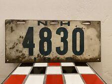 1919 New Hampshire License Platw