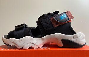 Nike Canyon Sandal NA Men's Sz 6 Black Chlorine Blue CW9704-007 NoLid
