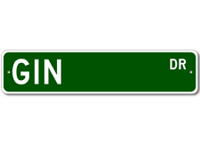 GIN Street Sign - Personalized Last Name Signs