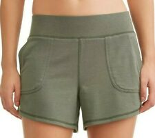 Athletic Works Women's French Terry Gym Shorts Size Small (4-6) Teal Tundra