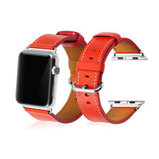Red Genuine Her/mes Leather Watch Band Strap For Apple Watch iWatch Edition 42mm