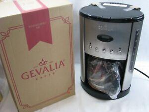 NEW Gevalia Kaffe 12 C Programmable Coffee Maker CM500 G70 Black Stainless Steel