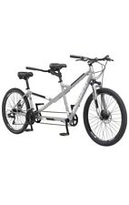 Schwinn Twinn Adult Tandem Bicycle, Low-Step Through, 26-Inch Wheel, Medium Grey