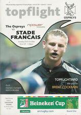 Ospreys v Stade Francais Heineken Cup 23 Oct 2005Liberty RUGBY PROGRAMME