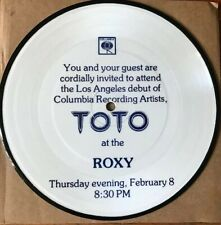 """TOTO VERY RARE PIC DISC (one the scarcest ). Fitzgerald Hartley 7"""" Pic Disc 1978"""