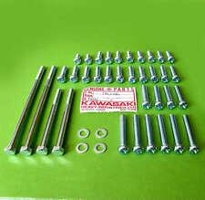 Kawasaki Engine Motor Side Cover Bolt Screw Kit Set z1 kz900 kz1000 kz 1000 oem