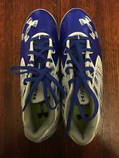 UNDER ARMOUR FOOTBALL CLEATS UA NITRO LOW MC MEN'S 8 BLUE AND WHITE FOOTBALL