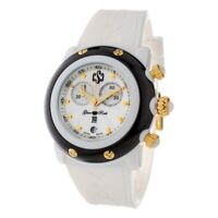Glam Rock Women's Watch Ladies Polycarbonate Silicone White/Black Dial GR62109