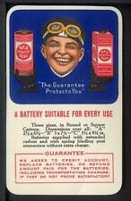 1915-16 RED SEAL DRY BATTERY Celluloid Advertising Calendar Card