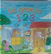 La Granja 1 2 3 . Tira y Descubre. Libro Infantil.