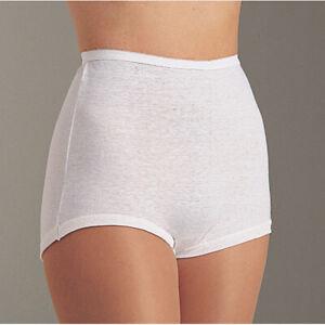 LOLLIPOP by Vanity Fair 3 Pack 100% Cotton Cuff Leg White Brief Size 10/3XL