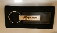 Subaru Logo Leather KeyTag Keyring Key Chain Outback Foreseter Wrx Sti Impreza