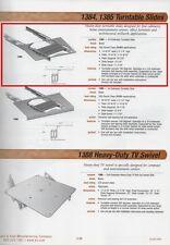 K&V #1384 HEAVY-DUTY TURNTABLE SLIDE, BLACK-PAINTED, 200-POUND CAPACITY