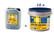 UZIN PE 414 Turbo - 3 x 6 kg + Uzin MK 200 NEU - 10 x 16 kg Parkettklebstoff