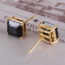 Premier-Designs-9K-Gold-Filled-Black-CZ-Mens-Unisex-Stud-Earrings-F1565