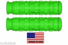 BICYCLE BMX BIKE CRUISER MOUNTAIN BIKE MTB GREEN HEX HANDLEBAR BAR HAND GRIPS