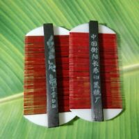 2 RED FINE TOOTH BAMBOO COMB KIDS PET HAND CRAFTED NIT FLEA LICE DUST WOOD THAI
