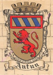 Postcard France Coat of Arms 71400 Cars. Iconic EDT Dayez