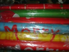 """New listing Christmas Banner Hanging Flags Decoration Reusable~Set Of 6~ 27 X 15"""""""
